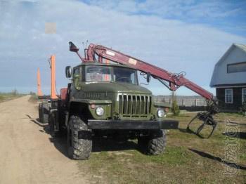 Лесовоз  на базе  Урал 43202 с г/манипулятором Atlas (Германия)