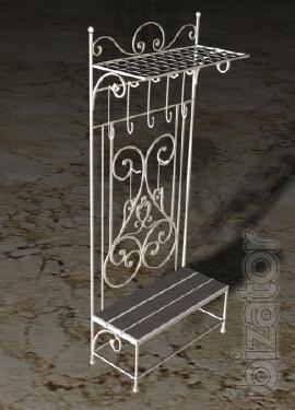 Wrought iron coat rack for entryway