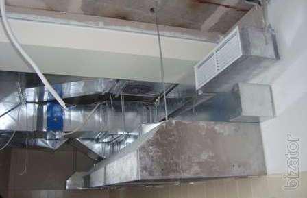 Ventilation, air Conditioning restaurants, cafes, shops, industrial enterprises.