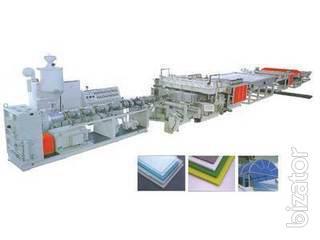 продаём оборудование для производства поликарбонатной плиты