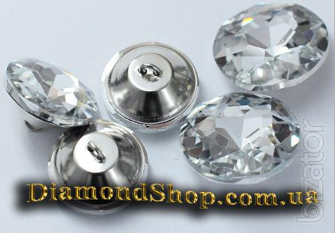 Buttons decorative glass for furniture