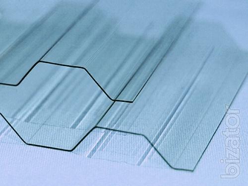 Transparent slate - profile polycarbonate