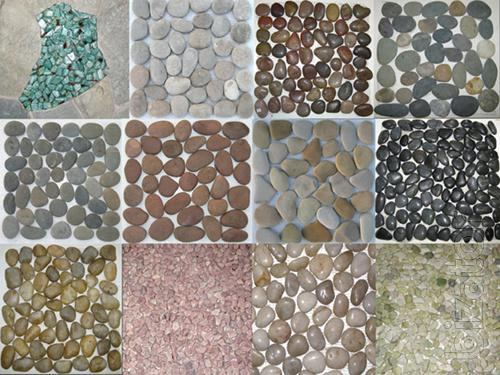 Tiles of pebbles on the net