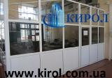 Office partitions reinforced plastic