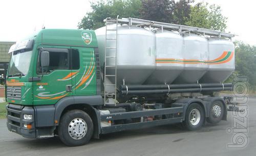 Компания окажет услуги по транспортировке сыпучих продуктов (муковозом)