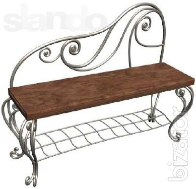 Bench wrought for the house