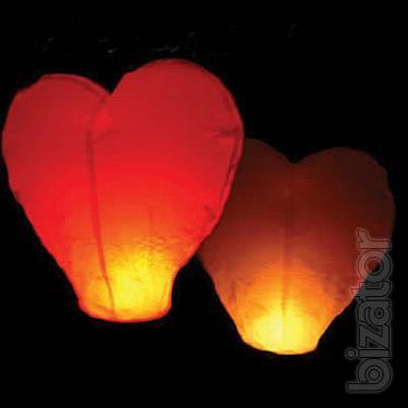 Sky lantern heart