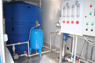 Modular installation of water treatment 12 - 50 m3/h FALCON. Design. The mounting.