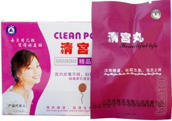 Clean Point Wellness female swabs to cleanse the uterus