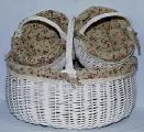 Basket wicker, set of 3pcs 48*38*38cm
