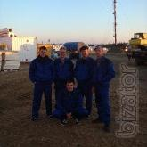 The team of electricians