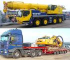 Auto Crane 140 tons rent Kiev, transportation of oversized trawl.