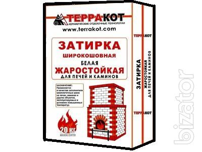 """Heat-resistant furnace mixture, tile and mastic """"Terracotta"""""""