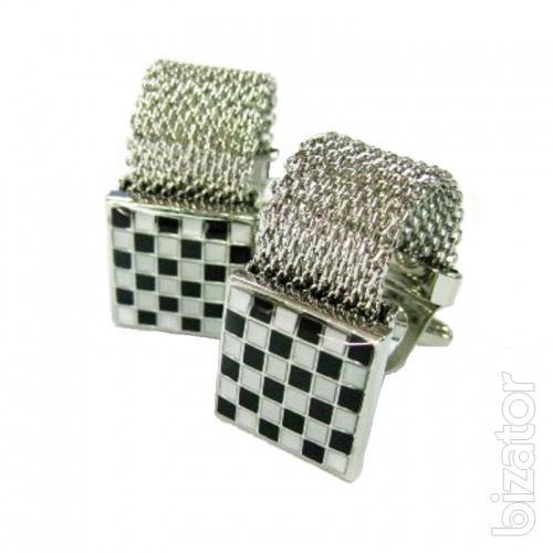 Sell cufflinks steel enamel accents, ahmadali