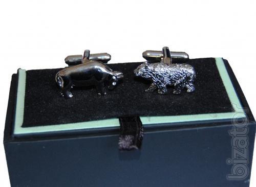 Sell originalnye cufflinks with symbols Stock market