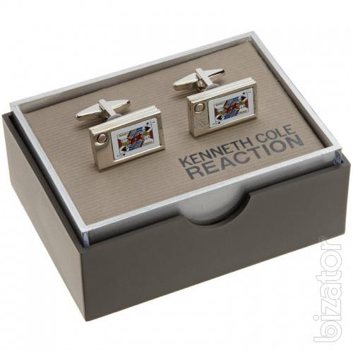 Sell Kenneth Cole cufflinks in the form of playing cards