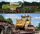 Transportation of special equipment, trawl for agricultural machinery in Khmelnitsky, Ukraine.