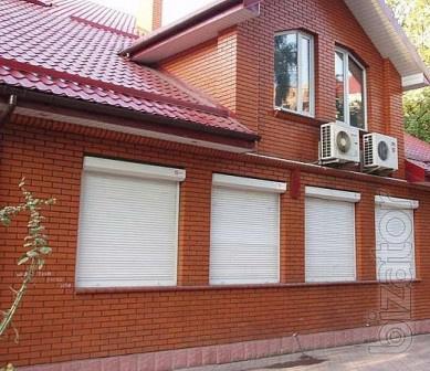 Защитные роллеты  Днепропетровск   ролшторы жалюзи тканевые роллеты гаражные ворота