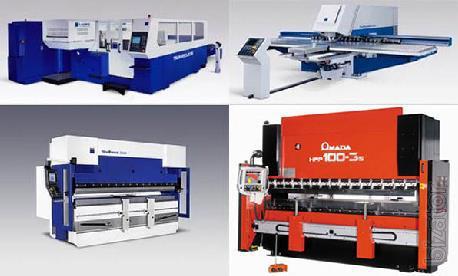 Coordinate stamping presses, lasers, machines TRUMPF, AMADA, etc.
