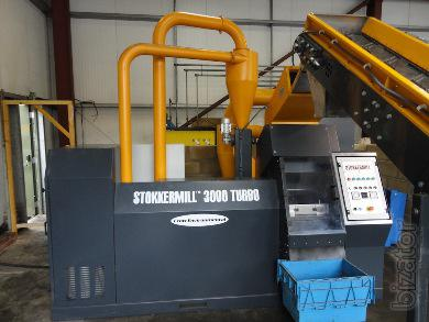 The processing unit cable STOKKERMILL SM 3000 Std in granules, sliced