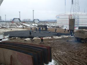 Гидрофобный слой в нефтеналивных терминалах холодный асфальт