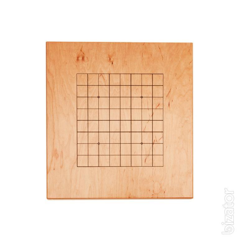 Доска для игры в Го 19х19, (массив сосна, лак)