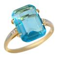 Золотое кольцо с  ювелирным кристалом и фианитами