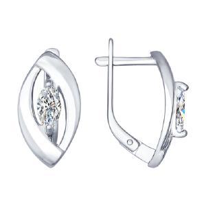 Серьги из серебра с фианитами от Sokolov 94022238