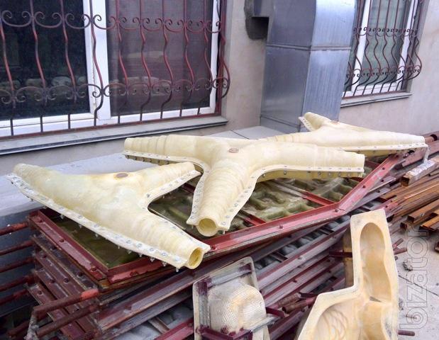Стеклопластиковые формы для изготовления бетонных изделий