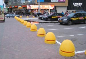 Парковочные барьеры, бетонные полусферы