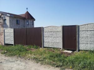 Еврозабор с воротами из профнастила под ключ в Запорожье