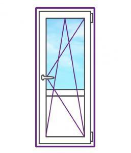 Балконная металлопластиковая дверь с поворотно-откидной створкой