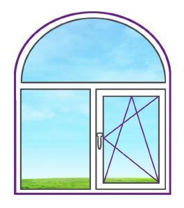 Арочное металлопластиковое окно