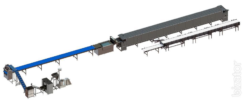 Автоматическая линия для производства мучных снеков и претцелей