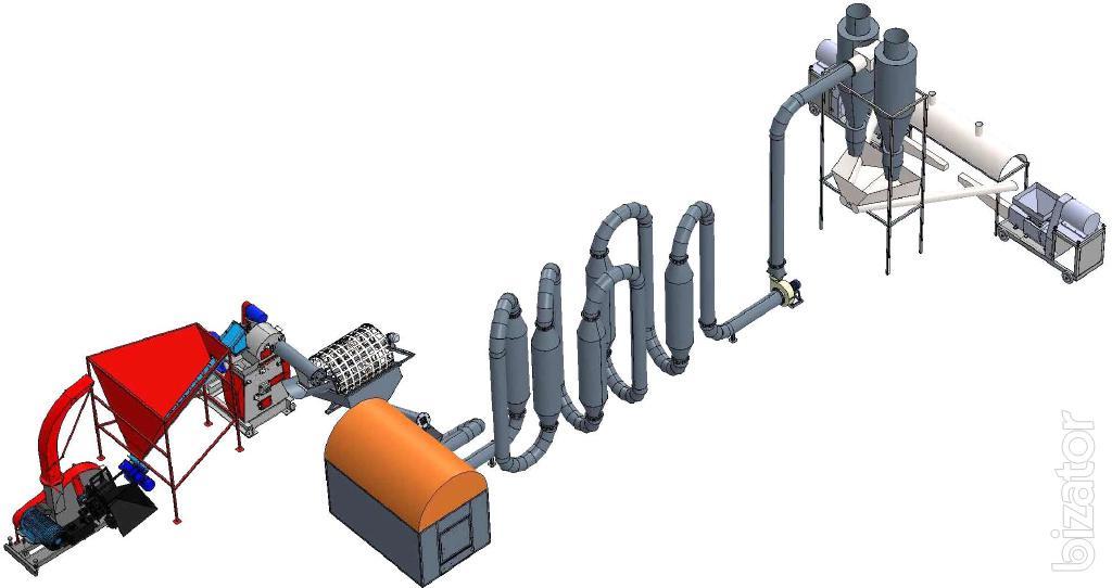 LPBU. Lines for the production of Pini Kay briquettes (200, 350, 700 kg/h)