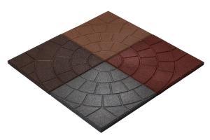 резиновая плитка  350х350
