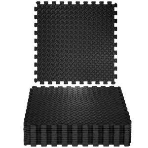 Модульное покрытие для спортивных залов Кроссфит с заглушками