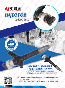 4d56 common rail injectors 095000-5600 denso common rail injector parts for sale