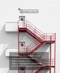 Производство и установка лестниц на металлическом каркасе по индивидуальному про