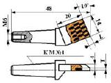 Гребенки алмазные (ТУ 2-037-230-87) - Гребенка алмазная ИП 187.00