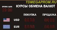 Электронные табло от МЕГАПРОМ - Табло обмена валют от ТД МЕГАПРОМ