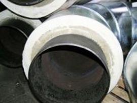 теплоизолированные пенополиуретаном трубы и элементы тепловых сетей - колено тру