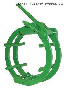 Центратор Single Jackscrew Chain Clamp цепной для сварки труб - Центратор Cage C