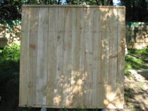 Забор деревянный строительный. - Забор деревянный, для строительных объектов