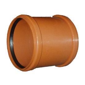 Наружная канализация - Муфта ПВХ наружная канализация