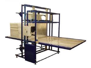 Полуавтоматическая  линия для упаковки межкомнатных дверей, столешниц в ПЭ пленк