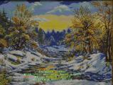 Картина - Зима в лесу