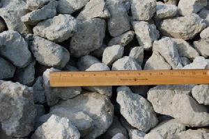 Щебень бетонный - Вторичный щебень бетонный   фр. 60-100