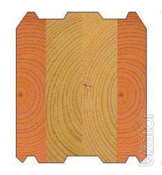 Комбинированный клееный брус кедр лиственница