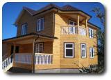 Дома из профилированного бруса - Загородный коттедж из бруса